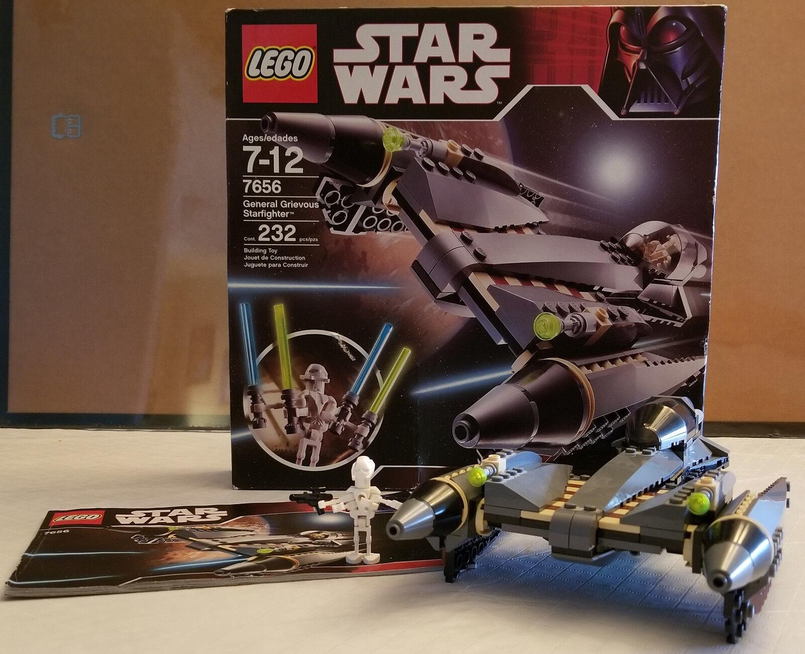 Lego Star Wars Episode III General Grievous Complete Starfighter  7656 100% Complete Grievous b8de17