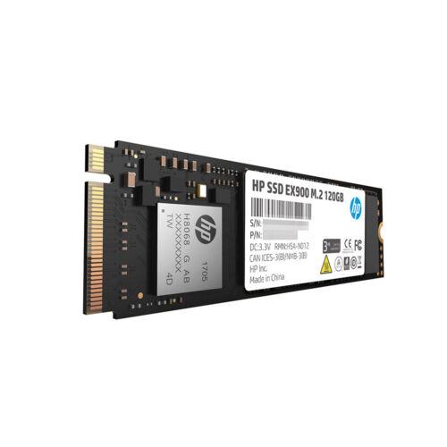 HP SSD EX900 M.2 120GB PCIe 3.0 x4 NVMe 3D TLC NAND Internal SSD 2YY42AA#ABC