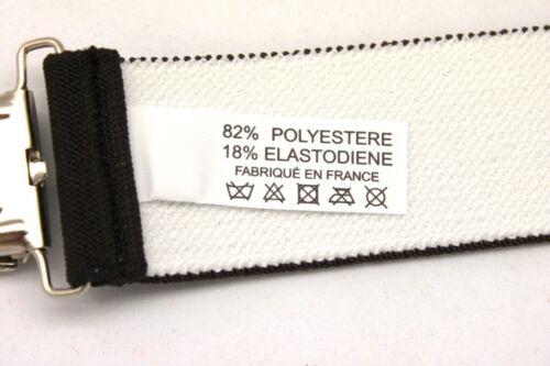 Bretelles Large Élastique Pantalon à Pinces Clips Homme Fabriqué en France