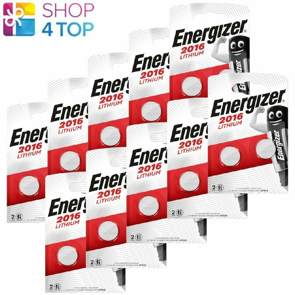 20 Energizer cr2016 Lithium Batteries 3v Coin Cell dl2016 Exp 2029 2bl NEW