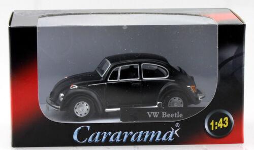 VW Escarabajo negro mate 1:43 Cararama maqueta de coche