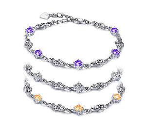 TOP-Armband-Kette-Armreif-Gold-pl-Bracelet-Damen-Kristall-Ring-Armschmuck-Ring