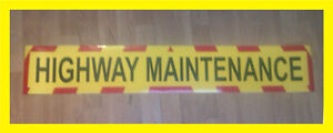 Highway Maintenance Sign, Sticker with chevrons - 600x100mm