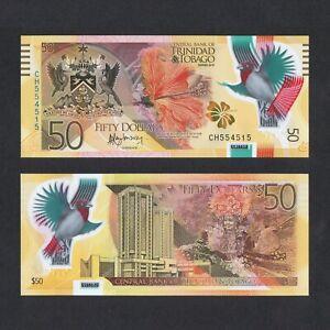 Trinidad and Tobago 50 Dollars Polymer UNC P-56 2015