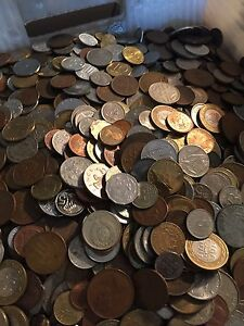 Huge-Mixed-Bulk-Lot-of-1000-Assorted-World-Foreign-Coins-Great-Starter-Group