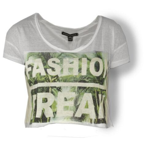 Top schwarz E2N Shirt XS-L Eight2Nine bauchfrei weiß grau
