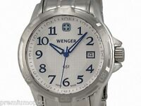 Wenger Gst Stainless Steel Mens Watch Silver Dial Calendar 78239