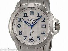Wenger GST Stainless Steel Mens Watch Silver Dial Calendar 78239