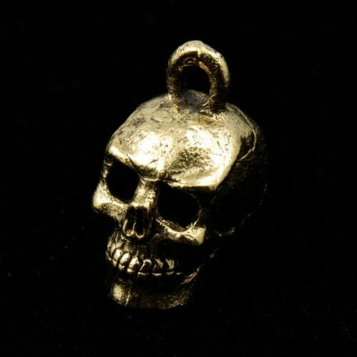 15mm Antique Gold Cast Metal Skull Charm #CMC753