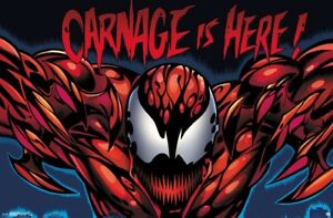 MARVEL COMICS 16528 22x34 CARNAGE IS HERE POSTER