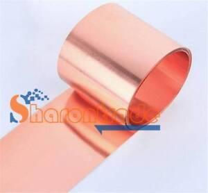 "1PCS 99.9/% Pure Copper Cu Metal Sheet Foil 0.1 x 100 x 1000mm 39/"""