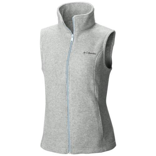 """New Womens Columbia /""""Benton Springs/"""" Full Zip Fleece Vest XS-S-M-L-XL"""