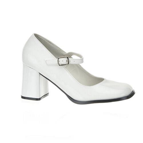 38 2.Wahl /% Mary Jane GoGo High Heels Pumps Lack Weiß Pleaser USA Damenpumps Gr