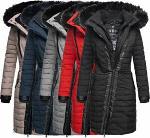 Details zu Navahoo Damen Winterjacke Steppjacke Warm Parka winter Mantel langejacke TIRANA