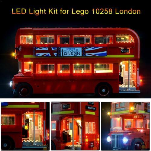 Kit D/'éclairage À LED Pour Blocs De Construction De Jouets Lego London Bus 10258
