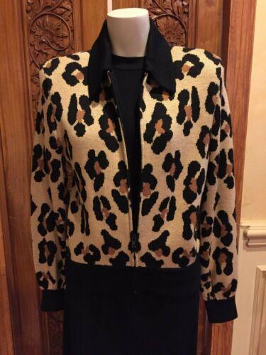 St John - Separates Knit Animal Print Jacket (M)