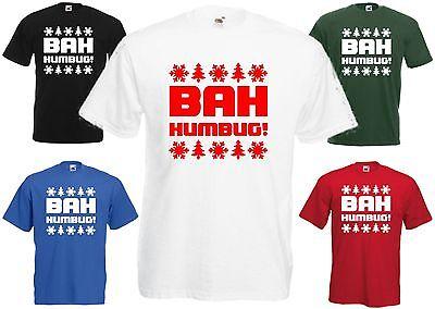 Bah Humbug T-shirt Christmas Tee Scrooge Secret Santa Grumpy Xmas Gift Present 100% Garantie