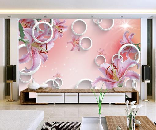 3D Circle Flower Sun 83 Wallpaper Mural Paper Wall Print Wallpaper Murals UK