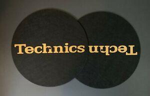Paire-de-Technics-Black-amp-Gold-DJ-Slipmats-sl1200s-mk5-m3d-m5g-ou-toute-plateau-tournant