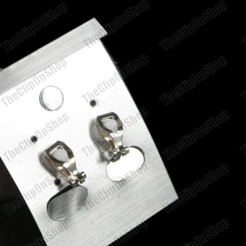 Clip en Rosa Cristal Plateado Plata//Oro Antiguo Vintage Estilo Pendientes de Diamantes de Imitación