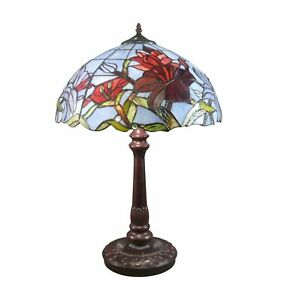 Htdeco-Lampe-Tiffany-Tulipes-en-verre-Luminaire-de-table-et-de-chevet
