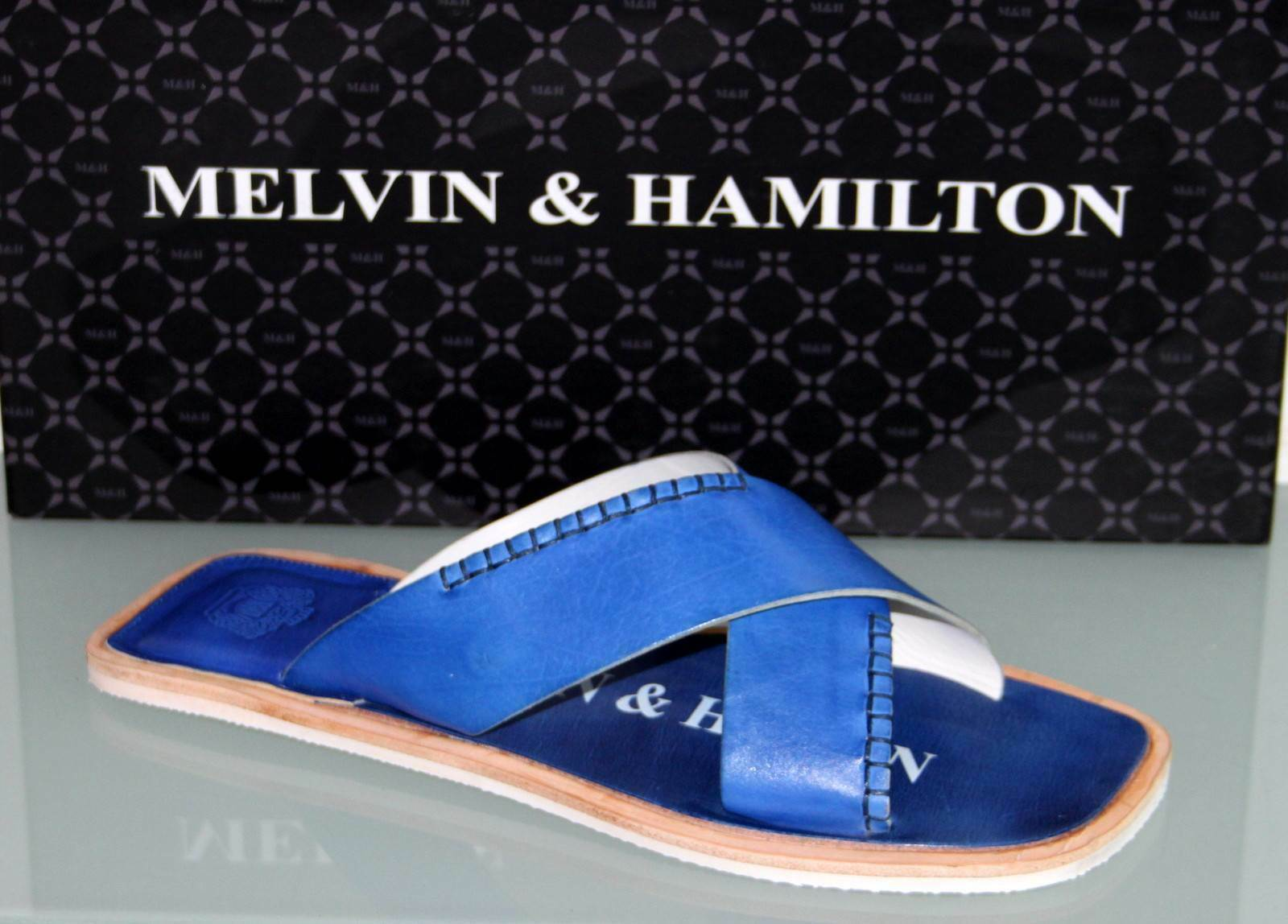 MELVIN & HAMILTON Leder Schlappe Sandale - BOB 1 Electric Blau - Neu&Original