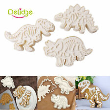 3PCS Dinosaur Shaped Cookie Cutter Biscuit Pastry Cake Decorating Baking Molud