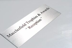 NAME PLATE Gold CONCAVE Corners Customised PREMIUM Quality METAL Name Plate