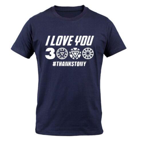 I Love You 3000 Times T shirt Men Superhero Iron Man Tony Stark T-Shirts
