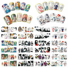 12 Sheets Nail Art Water Transfer Decal Stickers Fashion Girl BN253-264