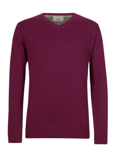 Marks /& Spencer Mens V Neck Jumper New M/&S Pure Cotton Sweater Pullover Free P/&P