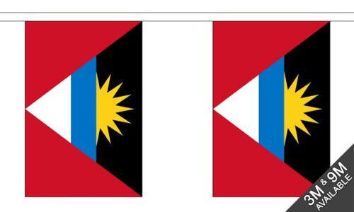 10 flags Antigua and Barbuda National Bunting 3 metre