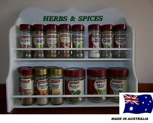 Spice-Rack-13-to-22-jar-HERB-amp-SPICE-IN-White-New-Design-made-in-OZ
