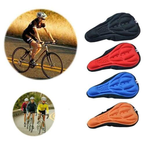 Bike Bicycle Silicone 3D-Gel Saddle Seat Cover Comfort Pad Padded Soft Cushion