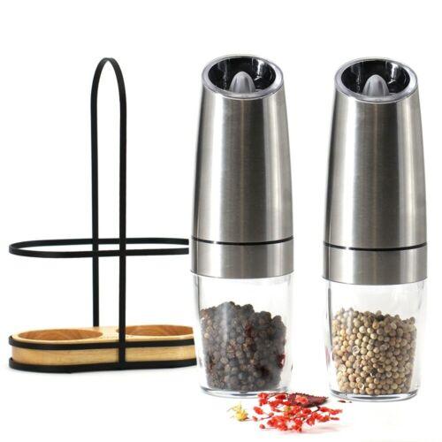 Pepper and Salt  Electric Grinder Automatic Mill LED Light Peper Spice Grainder