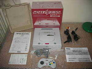 SEGA-SATURN-WHITE-CONSOLE-IMPORT-JAP-UNIT-IN-MINT-CONDITION