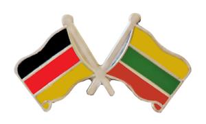 Litauen Flagge /& Deutschland Flagge Freudnschaft Höfflichkeits Anstecker