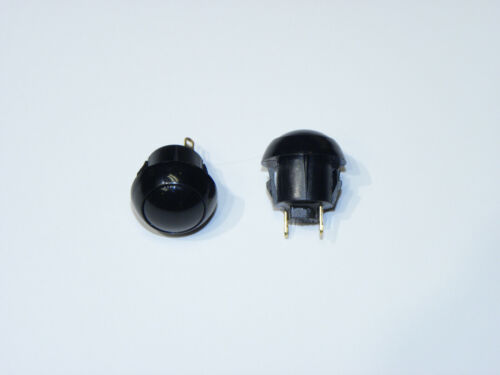 Pushbutton Switch MOM 2 pc OTTO P9-311122 NO SPST Snap-In w// BLK cap Sealed 5A