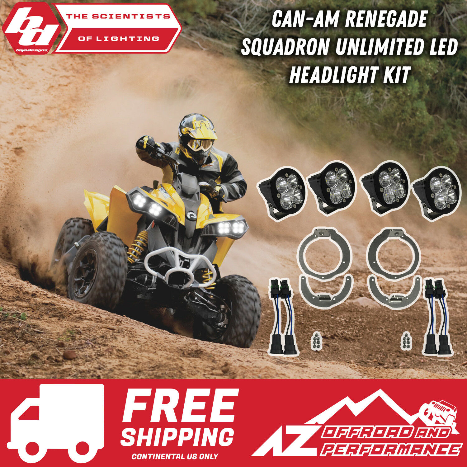 Baja Designs   Can-Am Renegade Squadron Unlimited Unlimited Unlimited Led Scheinwerfer Set   30ae54