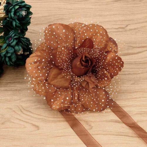 2Pcs Best Peony Flower Curtain Clip-on Tie Backs Holdback Tieback Holder MY N1