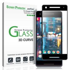 Google Pixel 2 amFilm Full Cover Tempered Glass Phone Screen Protector Black