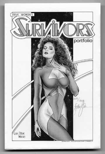 Steve Woron's SIGNED/Numbered Spectrum SURVIVORS 1988 Art Portfolio! LIMITED
