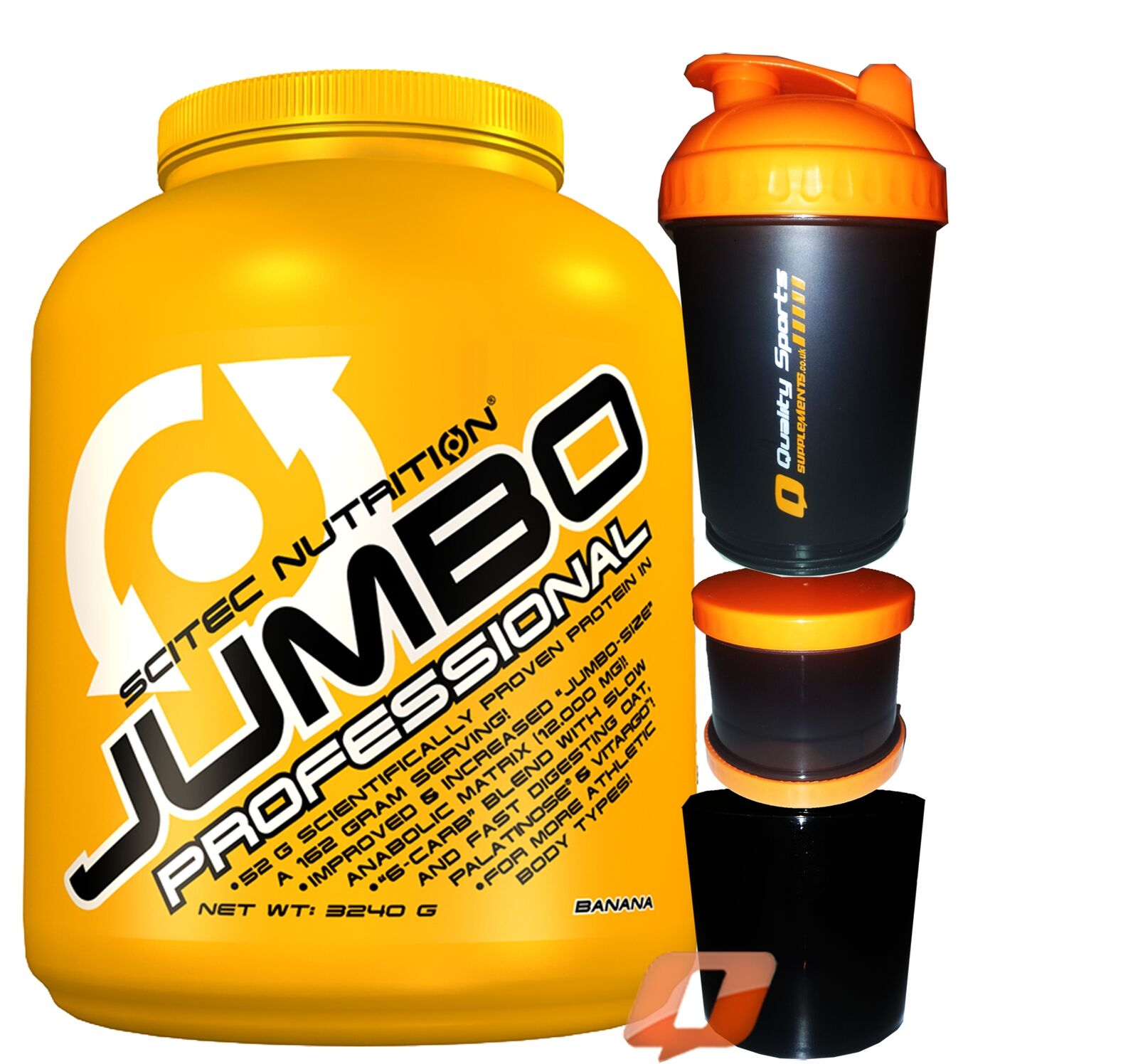 SciTec NUTRITION JUMBO PROFESSIONAL PROTEIN SHAKE WEIGHT GAINER BUILD MUSCLE PRO