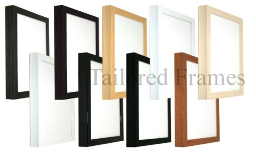 Deep Art Picture Frames in 9 Colours New Wooden Black,White,Brown,Natural