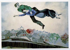 Marc Chagall•Lovers Over the Town 1914•Russian Spirit Art POSTCARD 4x6
