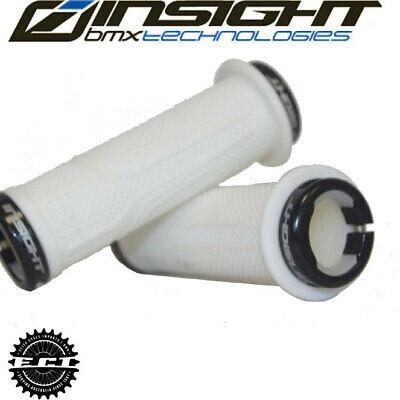 INSIGHT BMX COGS LOCK-ON GRIPS 115MM BLACK//BLK