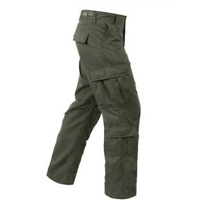 2f379f5634 Image is loading Olive-Green-VINTAGE-PARATROOPER-FATIGUES-BDU-Cargo-Pants-