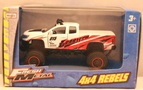 Modellauto//Maisto// 4x4 Rebels Chevrolet Colorado OVP weiss //3+