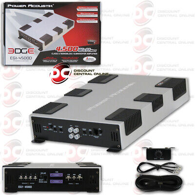 Power Acoustik RE1.4500D 4500 Watt Monoblock 1 Channel Car Amp Mono AB Amplifier