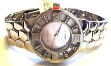 Women's Fashion Watch Montres Carlo MC40571 Silver Bracelet Band Silver Dial